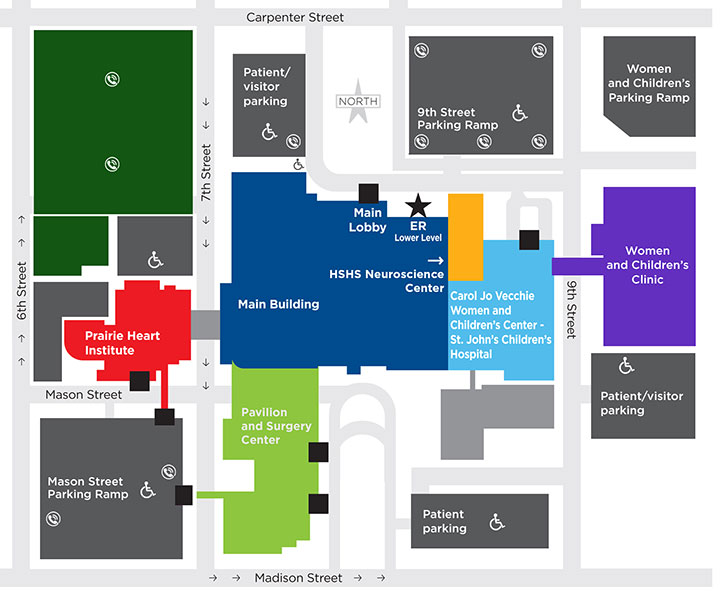 St. John's Children's Campus Map and Parking