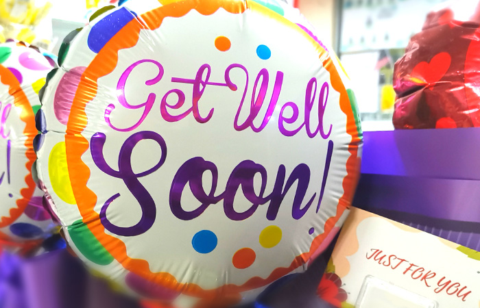 St Mary Decatur Gift shop get well soon balloon